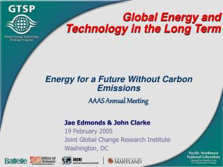 Global Energy and Technology in the Long Term