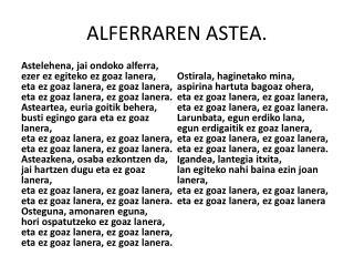 ALFERRAREN ASTEA.