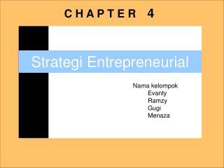Strategi Entrepreneurial