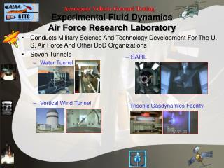 Experimental Fluid Dynamics Air Force Research Laboratory