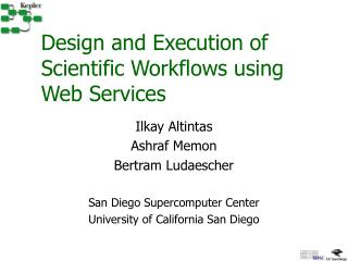 Design and Execution of Scientific Workflows using Web Services
