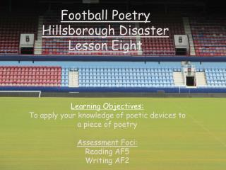 Football Poetry Hillsborough Disaster Lesson Eight