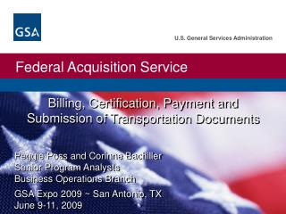 Billing, Certification, Payment and Submission of Transportation Documents