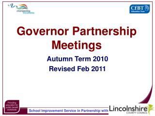 Governor Partnership Meetings
