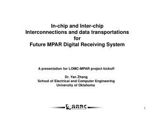 In-chip and Inter-chip  Interconnections and data transportations  for