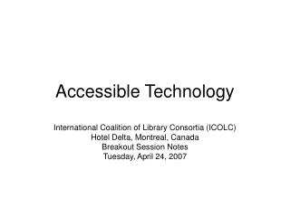 Accessible Technology