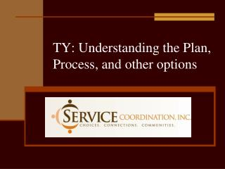 TY: Understanding the Plan, Process, and other options