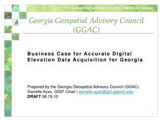 Georgia Geospatial Advisory Council (GGAC)