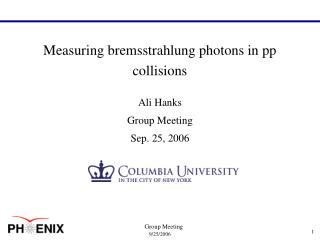 Measuring bremsstrahlung photons in pp collisions