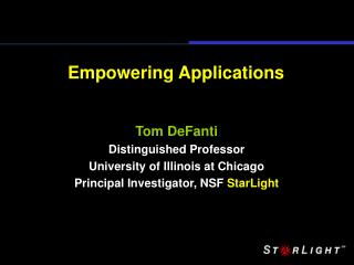 Empowering Applications