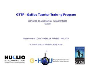 GTTP - Galileo Teacher Training Program