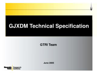 GJXDM Technical Specification