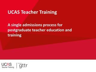 UCAS Teacher Training
