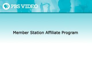 Member Station Affiliate Program