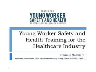 Young Worker Safety and Health Training for the Healthcare Industry