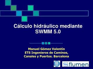 Cálculo hidráulico mediante  SWMM 5.0