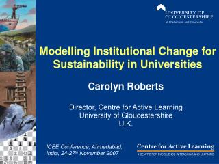 Modelling Institutional Change for Sustainability in Universities