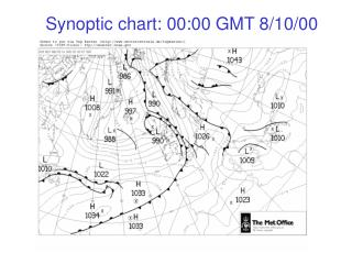 Synoptic chart:  00:00 GMT 8/10/00
