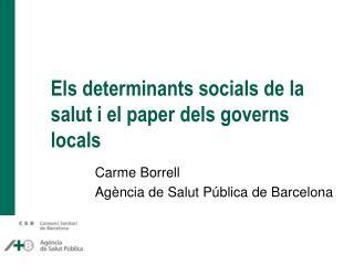 Els determinants socials de la salut i el paper dels governs locals