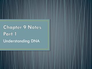 Chapter 9 Notes Part 1