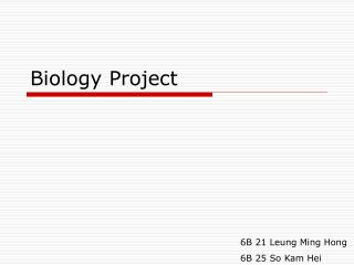Biology Project