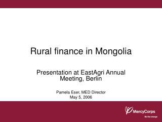 Rural finance in Mongolia