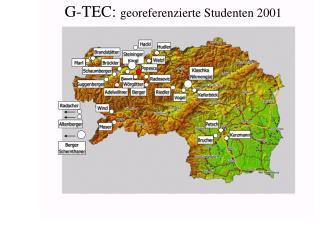 G-TEC:  georeferenzierte Studenten  2001
