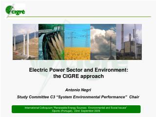 Antonio Negri Study Committee C3 �System Environmental Performance�  Chair