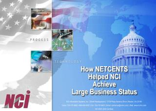 How NETCENTS Helped NCI Achieve Large Business Status