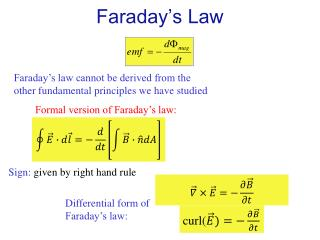 Faraday�s Law