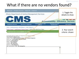 What if there are no vendors found?
