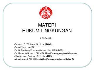 MATERI  HUKUM LINGKUNGAN