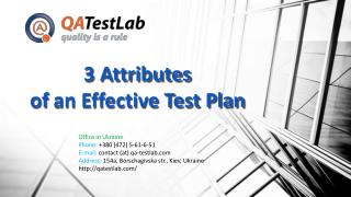 3 Attributes of an Effective Test Plan