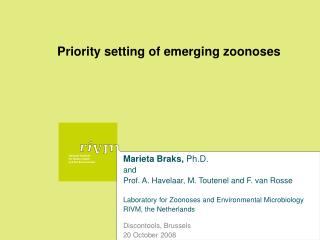 Priority setting of emerging zoonoses