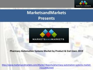 Pharmacy Automation Systems Market by Product & End User