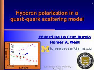 Hyperon polarization in a quark-quark scattering model
