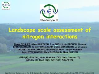 Landscape scale assessment of nitrogen interactions