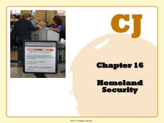 Chapter 16  Homeland Security