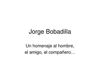 Jorge Bobadilla