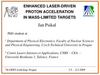 ENHANCED LASER-DRIVEN  PROTON ACCELERATION  IN MASS-LIMITED TARGETS
