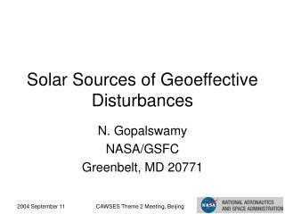 Solar Sources of Geoeffective Disturbances