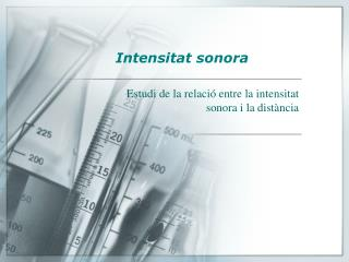Intensitat sonora