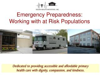 Emergency Preparedness: Working with at Risk Populations