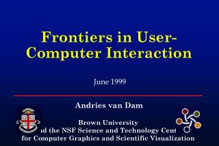 Frontiers in User-Computer Interaction