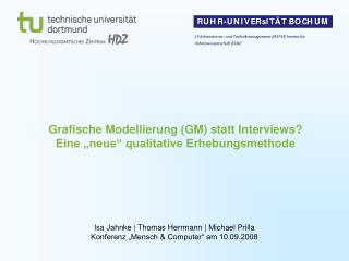 """Grafische Modellierung (GM) statt Interviews?  Eine """"neue"""" qualitative Erhebungsmethode"""