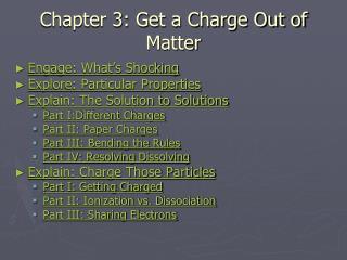 Chapter 3: Get a Charge Out of Matter
