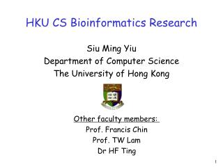 HKU CS Bioinformatics Research