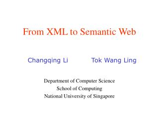 From XML to Semantic Web