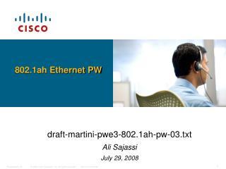 802.1ah Ethernet PW