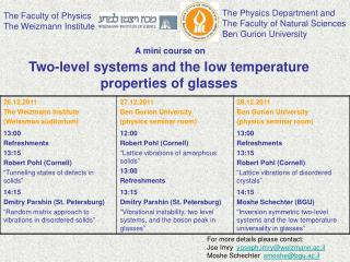 Two-level systems and the low temperature properties of glasses